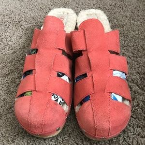 Ugg Women's Suede Coral Clogs